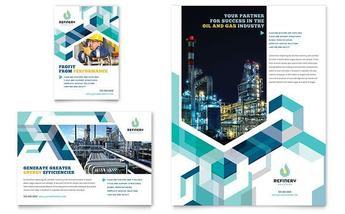 Oil & Gas Company Flyer & Ad Template Design