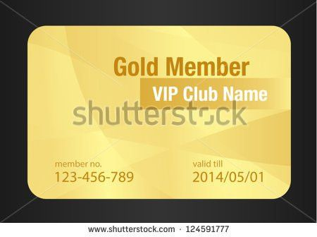 Gold Member Card Stock Vector 209517217 - Shutterstock