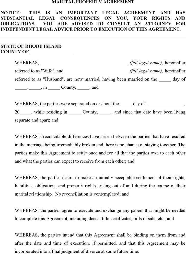 Rhode Island Divorce Papers | Download Free & Premium Templates ...