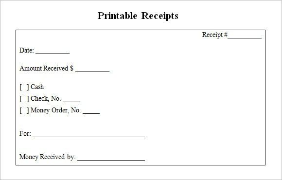 10+ Blank Receipt Templates – Free Samples, Examples, Format