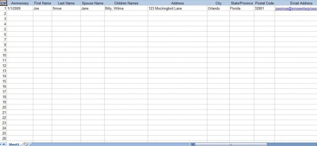 Church Membership Spreadsheet Template
