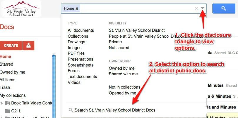 Searching Google Docs | St.Vrain Instructional Technology