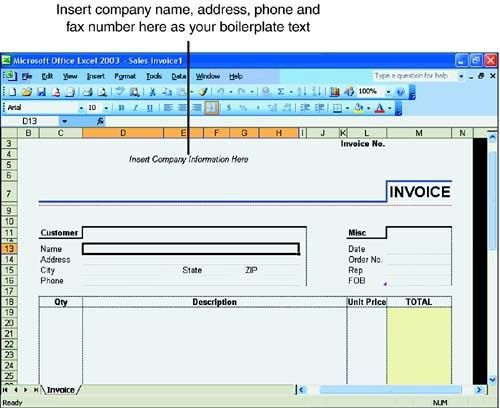 Exploring Excel Templates :: Hour 6. Using Excel Templates :: Part ...