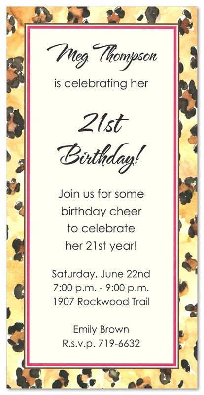 Exotic Leopard Party Invitations MyExpression, 3443