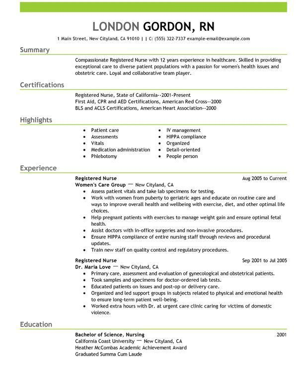 Nicu Rn Resume Sample. rn resume example entry level nursing ...