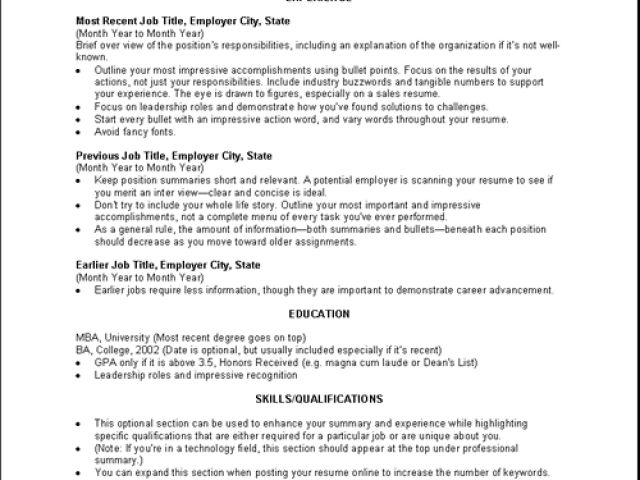 Resume Objective Examples Non Specific - Augustais