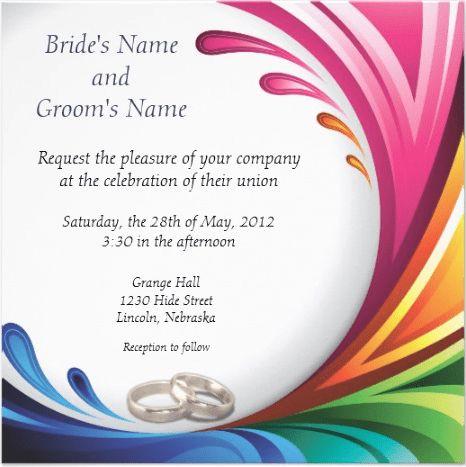Marriage Invitation Template | Sample Templates