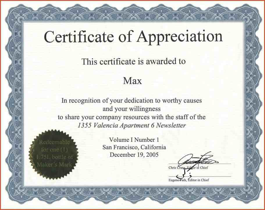 CERTIFICATE OF APPRECIATION WORDING.Certificate Of Appreciation 21 ...
