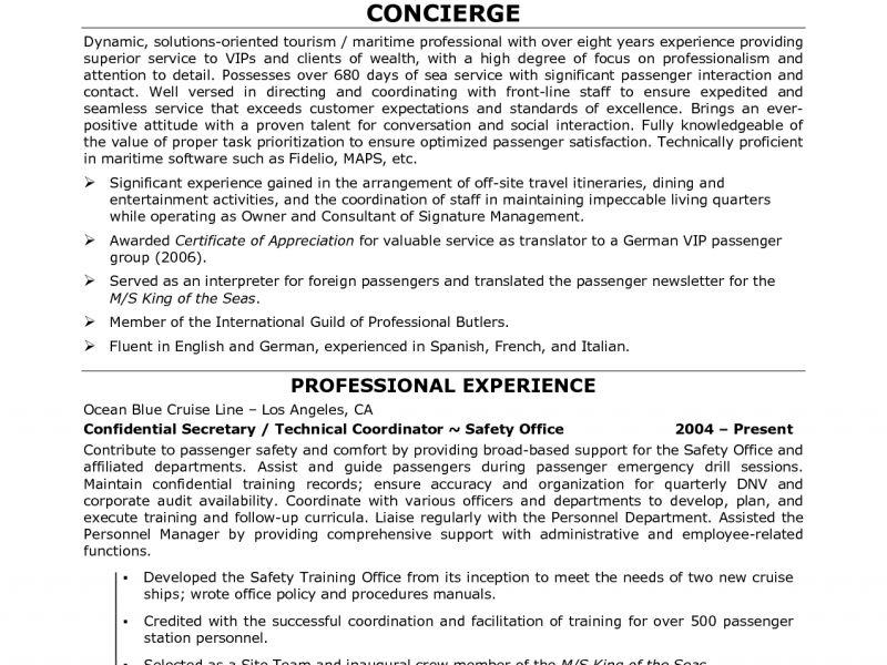 Residential Concierge Resume Sample   Corpedo.com  Concierge Resume