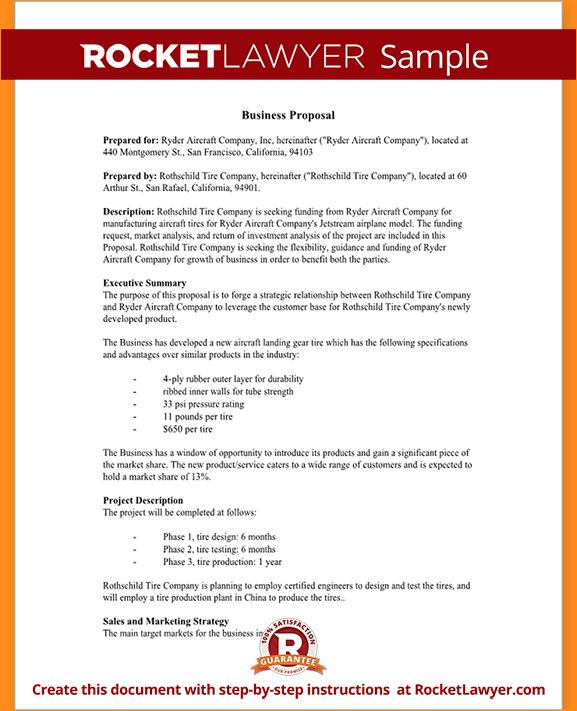 How to write a business proposal sample - Business Proposal ...