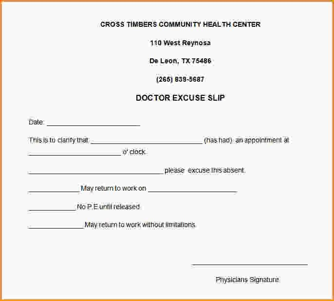 Free Printable Doctors Excuse For Work.doctors Note For Work ...