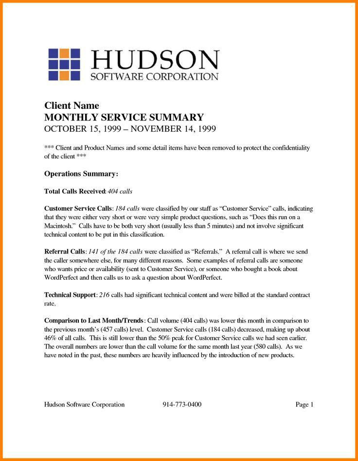 Best Example Executive Summary Report Images - Best Resume ...