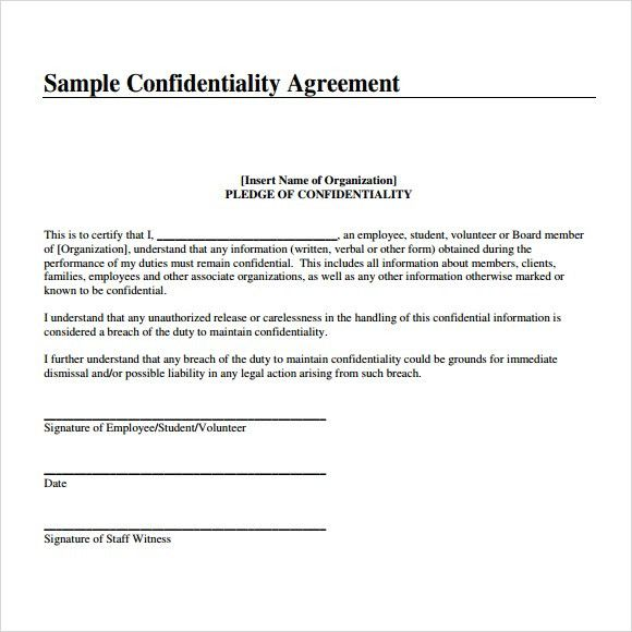 7 Free Confidentiality Agreement Templates - Excel PDF Formats