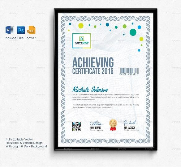 27+ Word Certificate Templates Free Download | Free & Premium ...