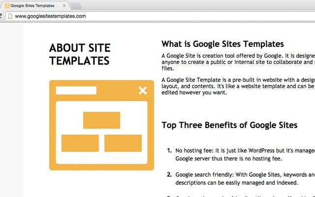 Google Sites Templates - Chrome Web Store
