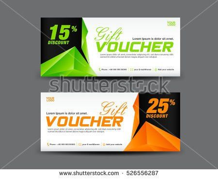 Green Discount Voucher Template Coupon Design Stock Vector ...