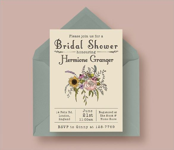 Sample Bridal Shower Invitations – gangcraft.net