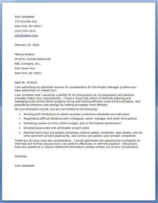 Best 20+ Cover letter sample ideas on Pinterest | Cover letter ...