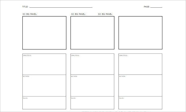Storyboard Templates - Free Word, PDF Documents Download ...