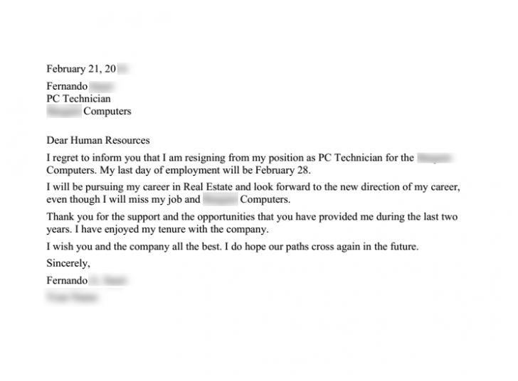 resignation letter format rest how to properly write a rest how to ...