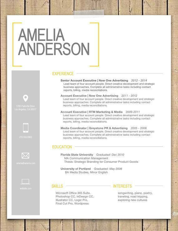 8 best Resume, Portfolio, etc images on Pinterest | Interior ...