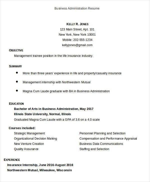 Business Resume Templates in Word - 13+ Free Word, Documents ...