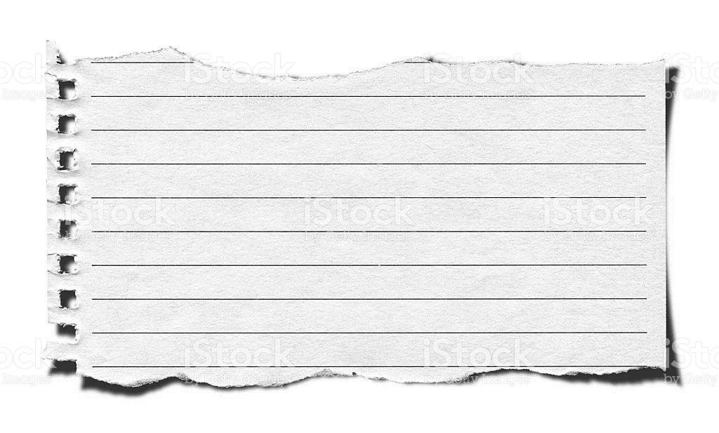 Torn Lined Paper Background Textured Isolated stock photo ...