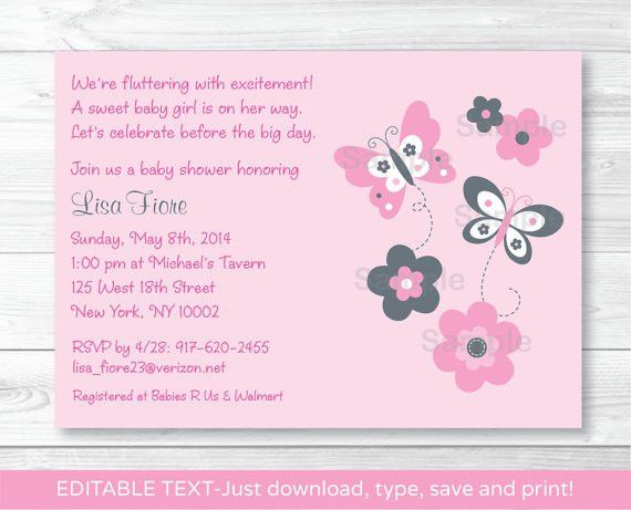 Baby Shower Invitations Templates Editable – orderecigsjuice.info