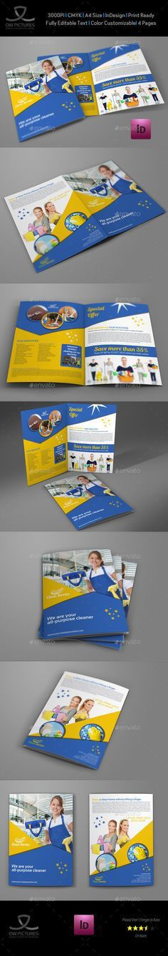 Residential cleaning flyer template - customizable, colorful, and ...