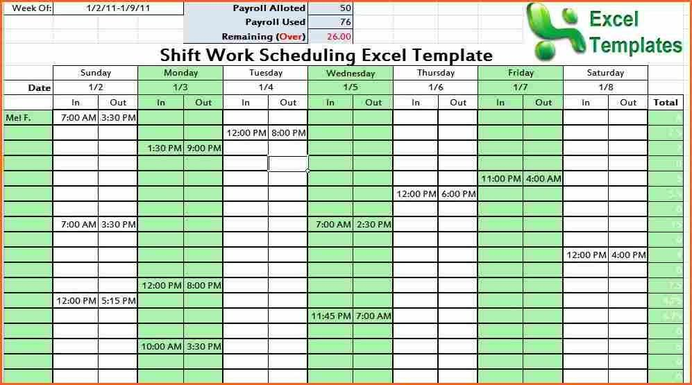 weekly work plan template excel - Budget Template Letter