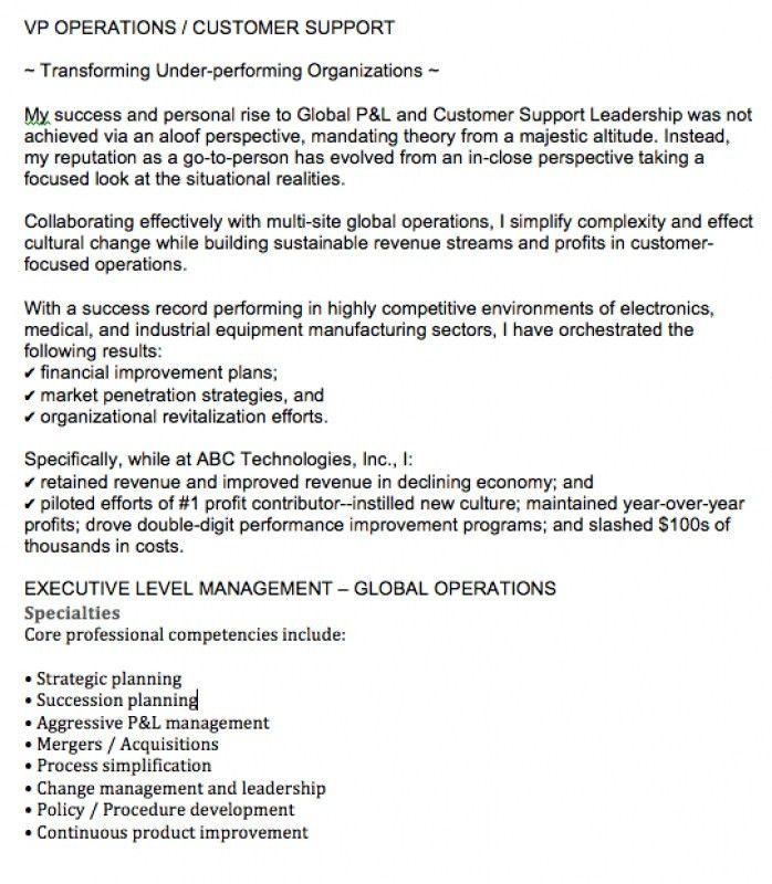 Sample Resume Summary – Resume Examples