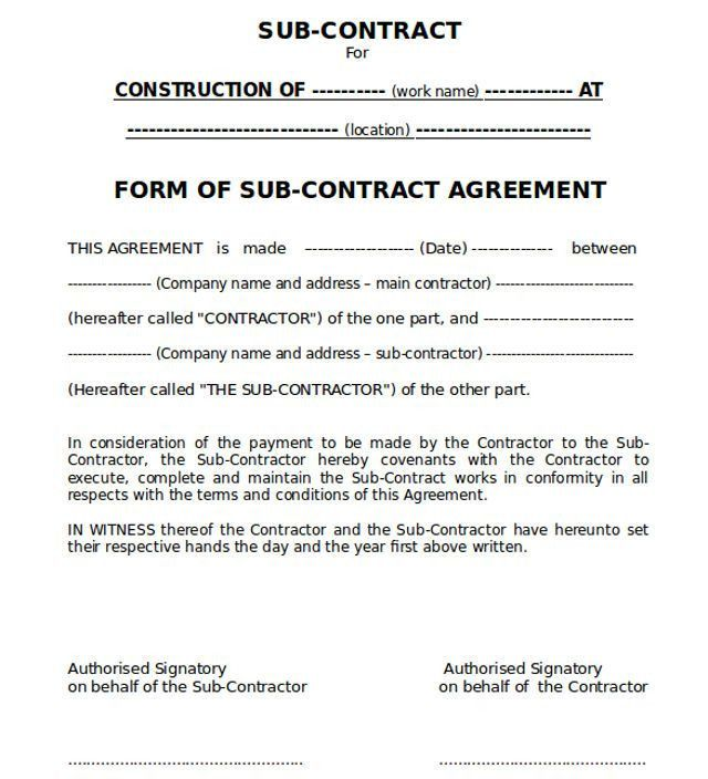 installation contract agreement template