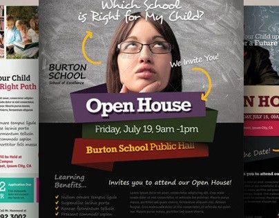 School Open House Flyers on Behance