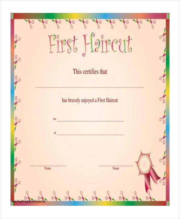Haircut Certificate Template - 5+ Free PDF Documents Download ...