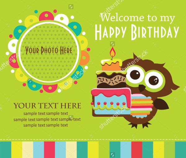 21+ Beautiful Kids Birthday Invitations - Free PSD, EPS, Vector ...