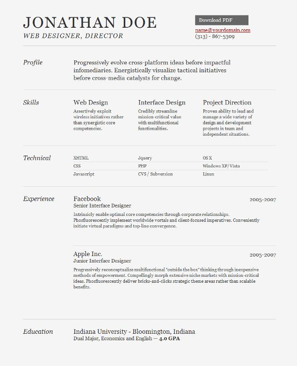 choose. web designer resume template 25 best ideas about web ...