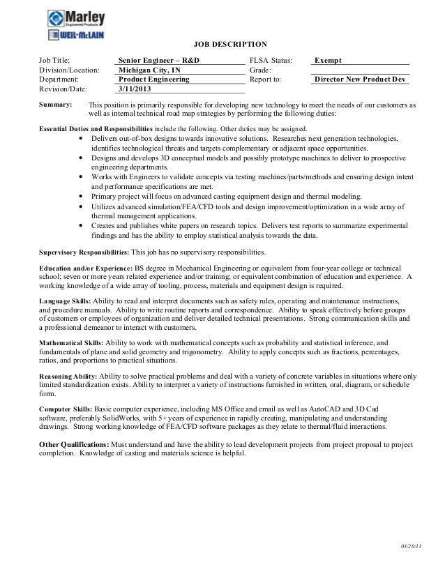 director of engineering job description