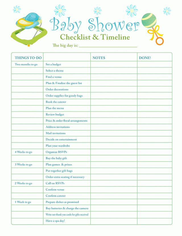 What mommy brain? 10 printable checklists that will organize you ...