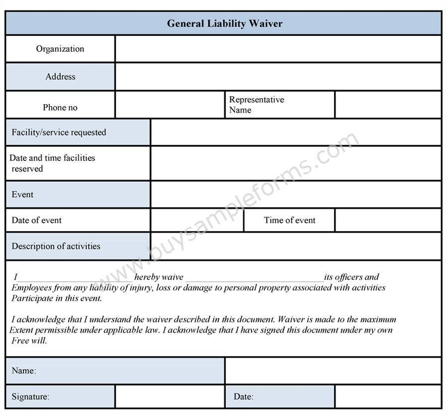 Liability Waiver. Sample Release Of Liability Form Template ...