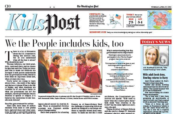 KidsPost Page | Newspaper In Education