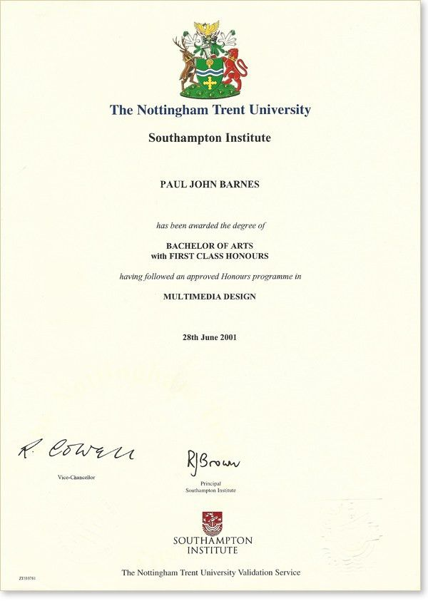 degree | Paul Barnes - Digital Design Blog