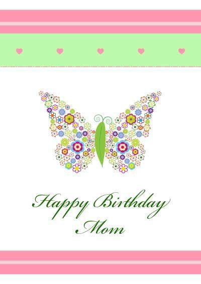 birthday cards for mom from daughter printable birthday card free ...