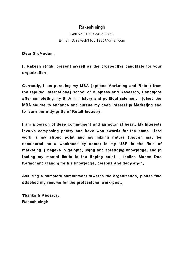 Cover Letter Dear Sir Or Madam | Experience Resumes