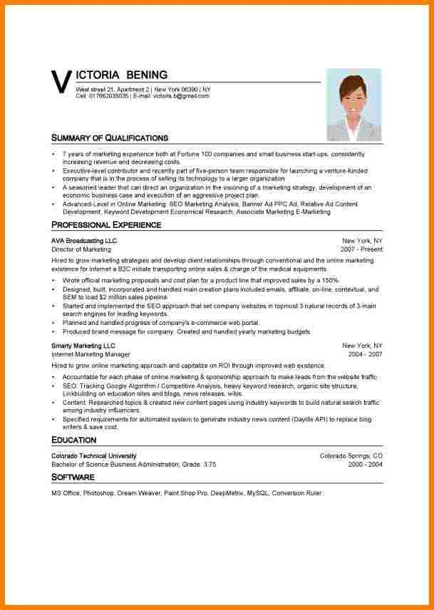 Ms Word Resume Template. Word Resume Template Download Sample ...