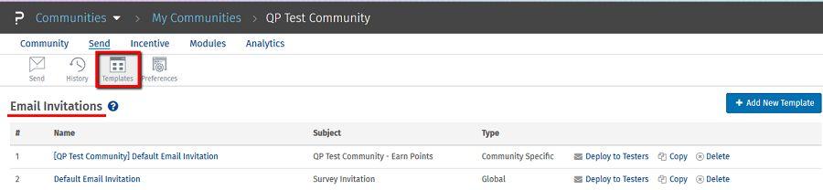 Communities - Email Invitations SurveyAnalytics Online Survey Software