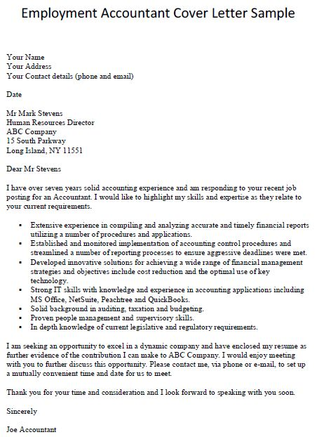 cover letter for a job posting