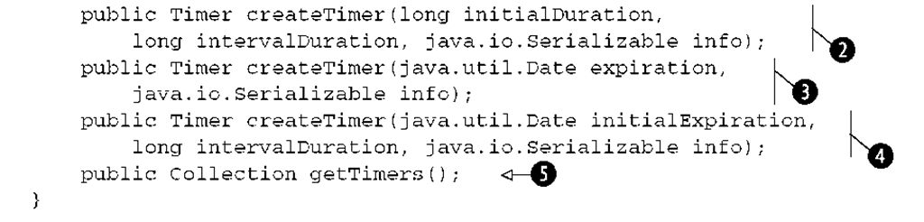 Scheduling: the EJB 3 timer service