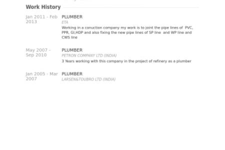plumbing resume sample plumbing resume examples reentrycorps