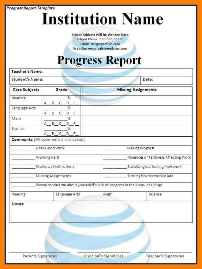6+ school progress report template | simple cv formate
