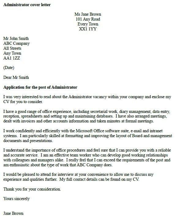 Practice Administrator Cover Letter